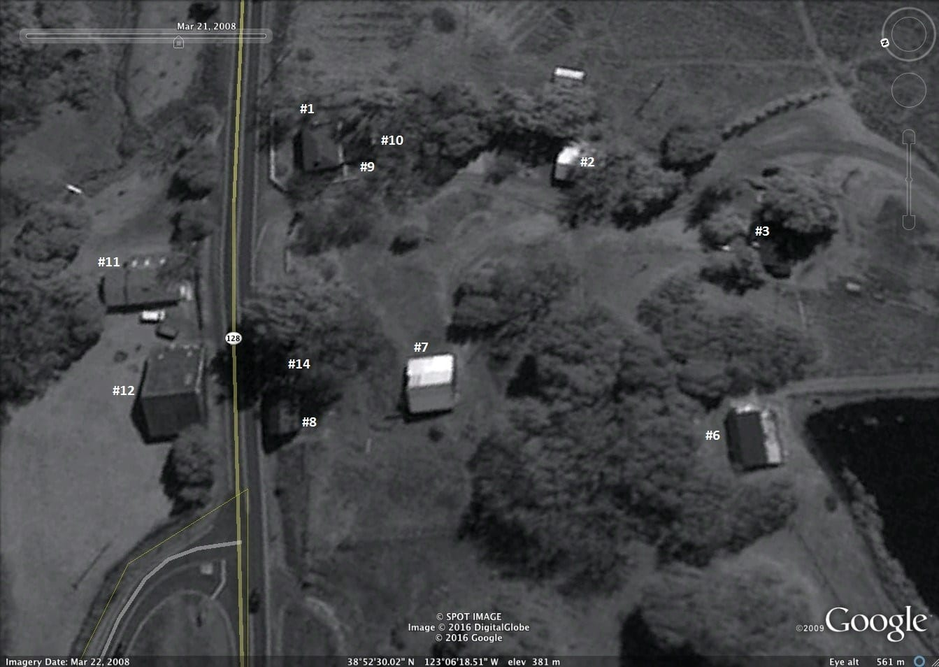 7a. Google Earth numbered 1