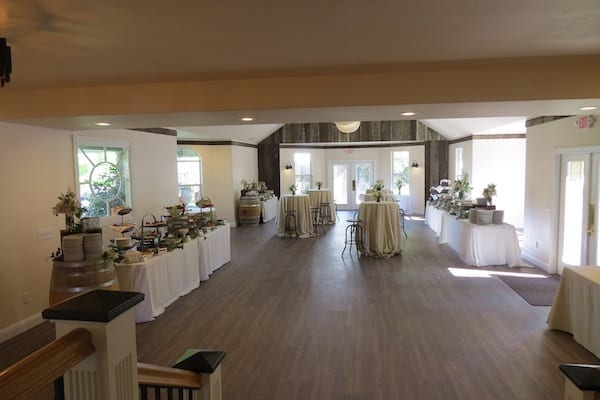 Mountain House Estate – Wine Country Wedding – California wine country weddings – Bay Area weddings - great room set with buffet