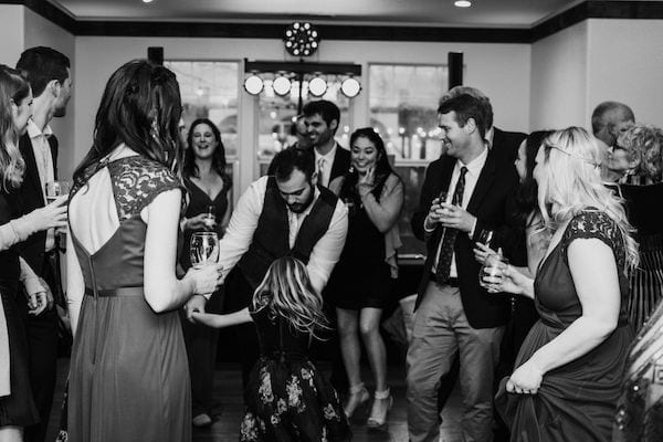 Mountain House Estate – Wine country winter wedding – Mountain House Estate wedding - dancing in Great Room