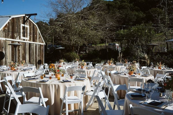 Mountain House Estate – wine country wedding – San Francisco Bay rustic wedding venue - outdoor wedding reception