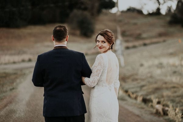 Mountain House Estate – Wine country winter wedding – Mountain House Estate wedding - bride and groom