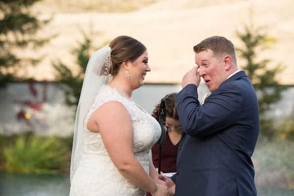 Mountain House Estate – California wine country weddings – fall weddings- San Francisco bay fall weddings - exchanging wedding vows