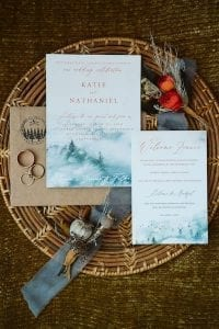 Mountain House Estate – wine country wedding – San Francisco Bay rustic wedding venue - wedding invitations