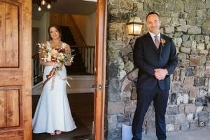Mountain House Estate – wine country wedding – San Francisco Bay rustic wedding venue - first look