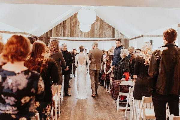 Mountain House Estate – Wine country winter wedding – Mountain House Estate wedding - Gret Room wedding ceremony - indoor wedding ceremony