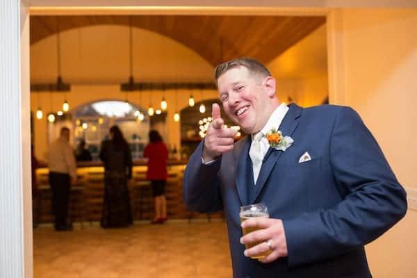 Mountain House Estate – California wine country weddings – fall weddings- San Francisco bay fall weddings - groom in bar
