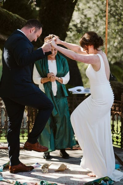 Mountain House Estate – wine country wedding – San Francisco Bay rustic wedding venue - Jewish wedding ceremony