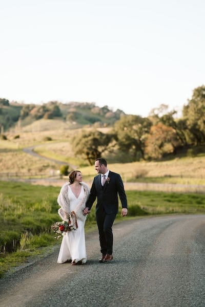 Mountain House Estate – wine country wedding – San Francisco Bay rustic wedding venue - bride and groom