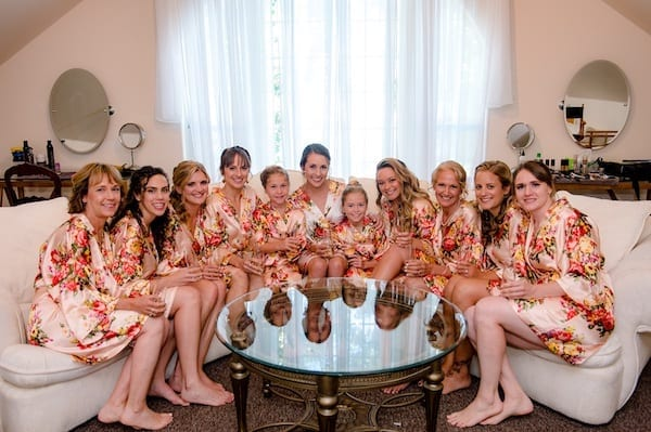 Mountain House Estate - brideal party in robes- The Oasis - bridal suite - ready room - bride - bridal party