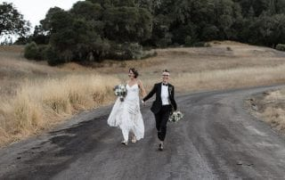 Wine Country LGBTQ weddings - Mendocino LGBTQ weddings - two brides on a country road