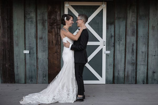 Wine Country LGBTQ weddings - Mountain House Estate weddings - Mendocino LGBTQ weddings - two brides - first look