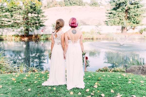 Wine Country LGBTQ weddings - Mountain House Estate weddings - Mendocino LGBTQ weddings - two brides - two bride holding hands
