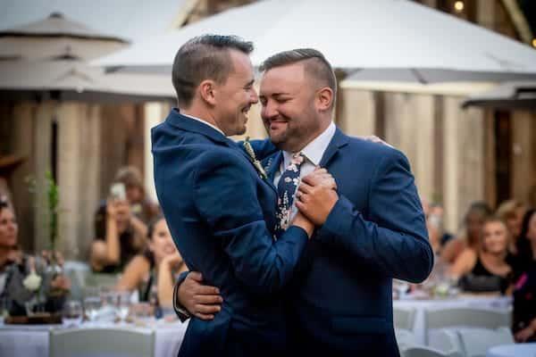 Wine Country LGBTQ weddings - Mountain House Estate weddings - Mendocino LGBTQ weddings - two grooms - first dance