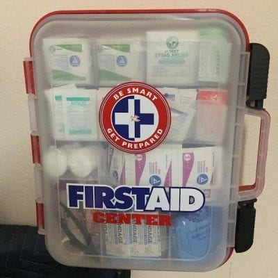 California wine country wedding venue- first aid kit - safety first