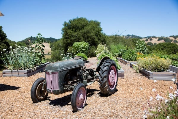 mountain house estate- rustic conoma country wedding venue- 1941 Ford tractor