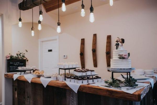 Mountain House Estate – Sonoma wine country wedding venue – rustic wine country wedding - rustic wedding reception - wedding cake - dessert table