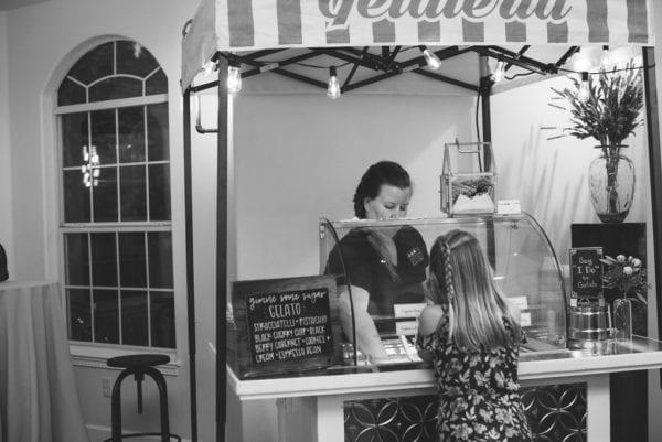 Mountain House Estate – Sonoma wine country wedding venue – rustic wine country wedding - rustic wedding reception - fun wedding details - gelato cart - gelato cart for wedding reception - Mountain House Estate wedding reception