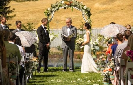 5 Mountain House Estate – Wine Country wedding venue – outdoor wedding ceremony