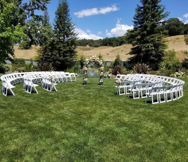 Mountain House Estate - California wine country weddings - outdoor wedding ceremony- San Francisco Bay Area rustic wedding venues- wedding ceremony in the round