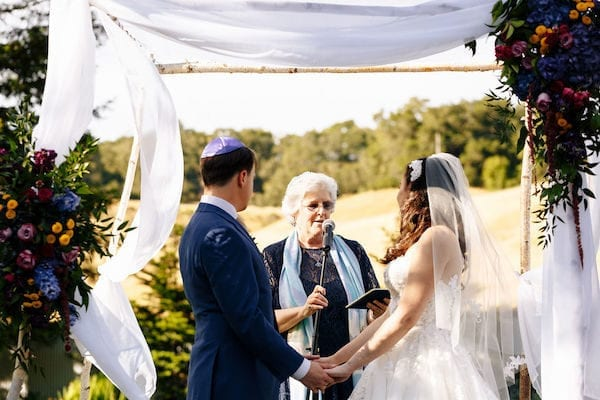 Mountain House Estate - Mountain House Estate Jewish wedding ceremony - bride and groom under chuppah