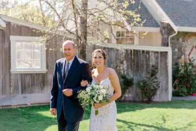 Mountain House Estate – Sonoma County wedding – San Francisco Bay Area rustic wedding venue – California wine country wedding venue – Mendocino weddings – Sonoma weddings - bride - brides entrance - bride with father