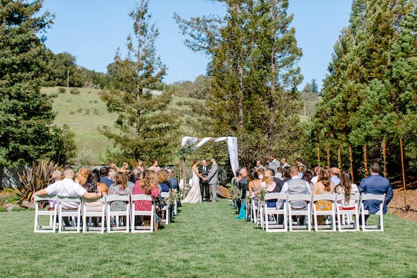 Mountain House Estate – Sonoma County wedding – San Francisco Bay Area rustic wedding venue – California wine country wedding venue – Mendocino weddings – Sonoma weddings - outdoor wedding ceremony