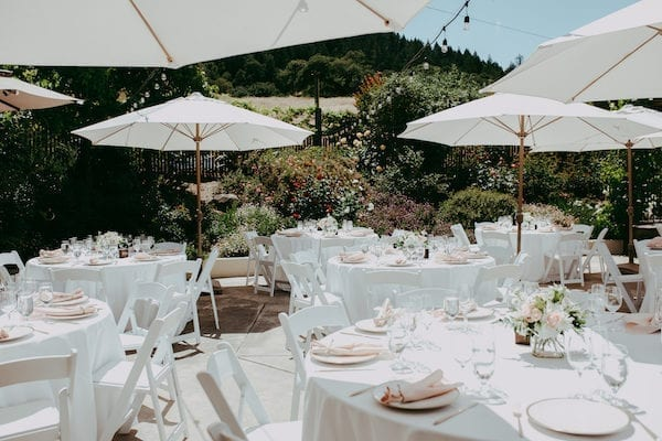 Mountain House Estate – pink and white wedding – wine country wedding- California wine country wedding - outdoor wedding reception - Sonoma wedding reception - pink and white wedding