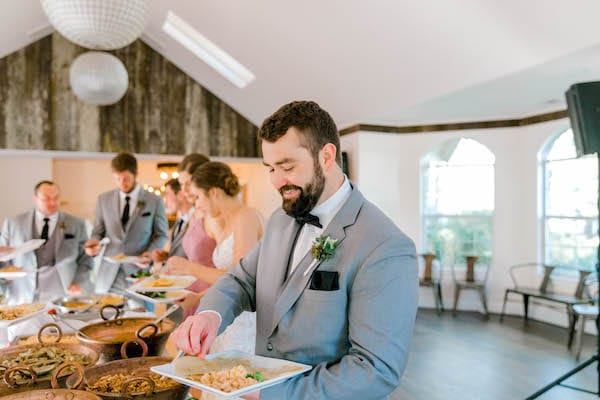 Mountain House Estate – Sonoma County wedding – San Francisco Bay Area rustic wedding venue – California wine country wedding venue – Mendocino weddings – Sonoma weddings - groom - taco bar - Casual wedding reception