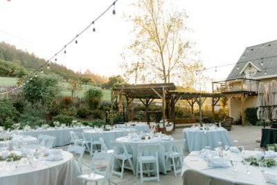 Mountain House Estate – Sonoma County wedding – San Francisco Bay Area rustic wedding venue – California wine country wedding venue – Mendocino weddings – Sonoma weddings - outdoor wedding reception - white wedding reception decor