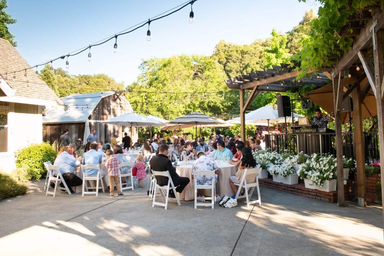 40 dining seating rustic mountain house estate weddingi venues northern california
