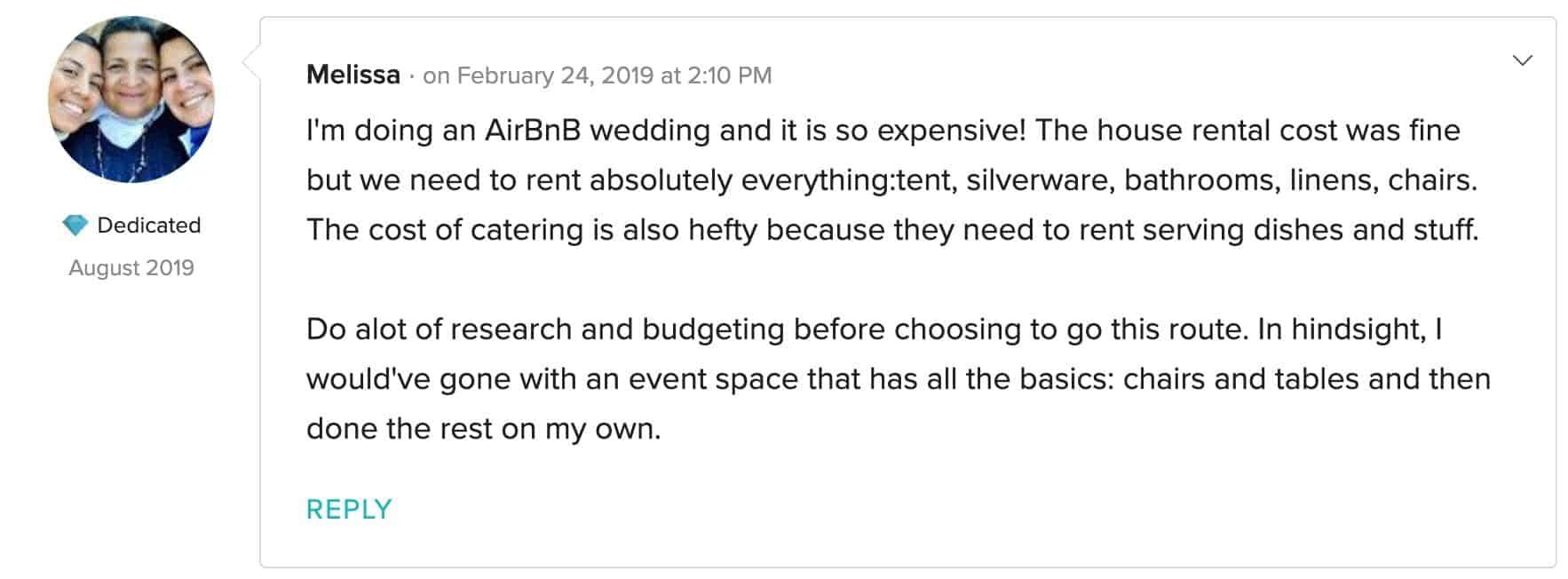 2 airbnb wedding venue california