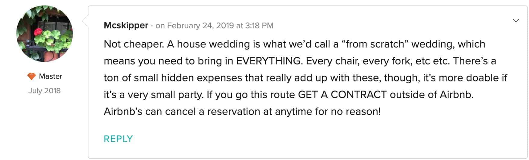 3 airbnb wedding venue california
